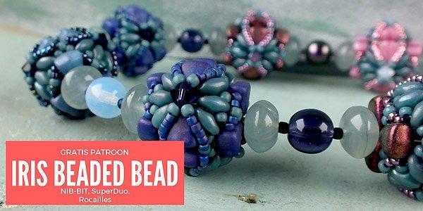 DIY project: Iris Beaded Bead