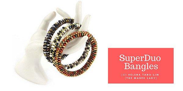 DIY tutorial: Superduo bangles