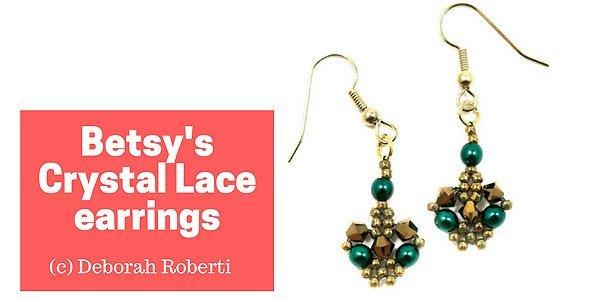 DIY tutorial: Betsy's Crystal Lace earrings