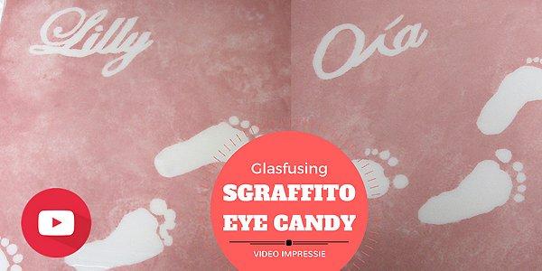 Eye Candy: Voor & na bij sgraffito glasfusing