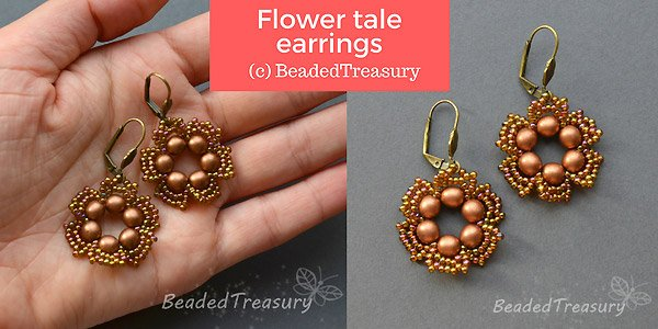 DIY tutorial: Flower Tale earrings