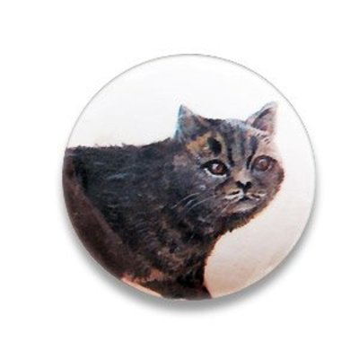 Pastille kat - Beige/lbruin/.. - Papier/resin - 36mm