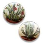 Pastille cactus - Beige/lgroen - Papier/resin - 25mm