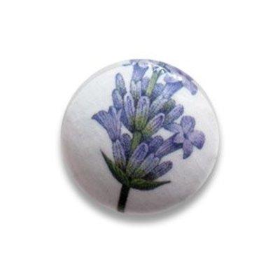 Pastille lavendel - Beige/lila - Papier/resin - 25mm
