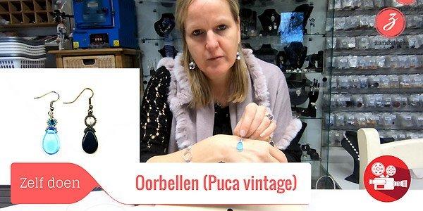 ZandstormTV: Oorbellen maken met Puca Vintage kralen