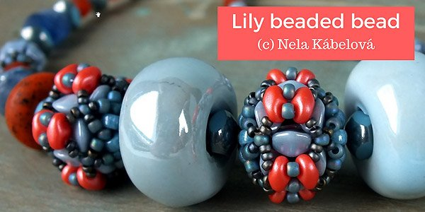 Gratis patroon - Lily beaded bead