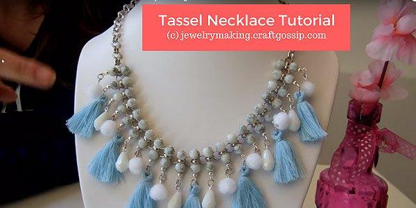 DIY video - Tassel (kwastjes) necklace