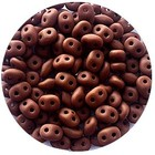 Superduo - Chocolat mat - Glas - 2/5 mm
