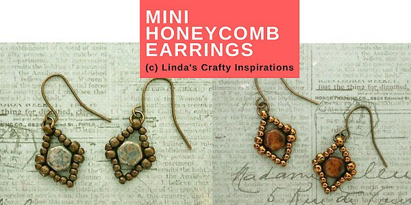 DIY patroon: Tiny Honeycomb earrings