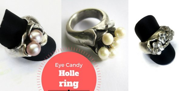Eye Candy: Holle ring in Art Clay Silver