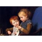 Albert Anker - die kleinen Strickerinnen -