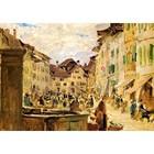 Albert Anker - Markttag in Murten 1876
