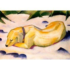 Franz Marc - Hund im Schnee