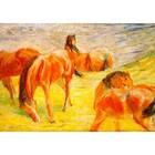 Franz Marc - Weidende Pferde