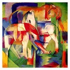 Franz Marc - Elefant, Pferd, Rind, Winter