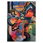 August Macke - farbige Komposition