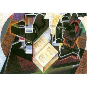 Juan Gris - book, pipe and glasses