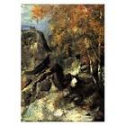 Paul Cezanne - Felsen im Wald von Fontainebleau