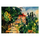 Paul Cezanne - Haus mit rotem Dach