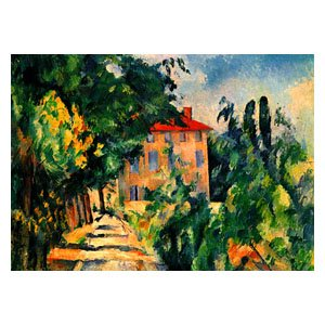 Paul cezanne haus mit rotem dach sharelock holz puzzle for Modernes haus mit rotem dach