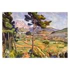 Paul Cezanne - Landschaft mit Viadukt