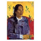 Paul Gauguin - die Frau mit der Blume