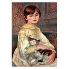 Pierre August Renoir - Porträt der Mademoiselle Julie Manet mit Katze