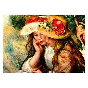 Pierre August Renoir - zwei lesende Mädchen im Garten