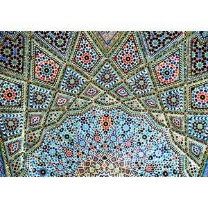 Decke in der Nasr ol Molk Moschee in Shiraz