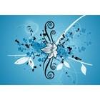 Floral in Blau-Weiss