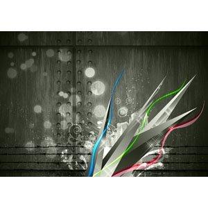 Floral in Grau