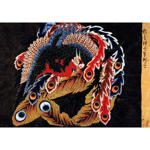 Hokusai, Katsuchika - Celling of Ganshion temple at Obuse