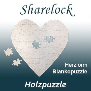Blankopuzzle Herzform 40x40cm