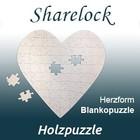 Blankopuzzle Herzform 48x48cm