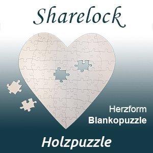 Blankopuzzle Herzform 100x100cm