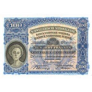 alte Hundert Franken Note