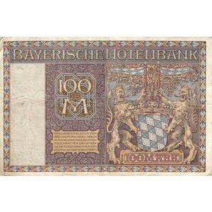 Bayerische Notenbank 100 Mark Schein