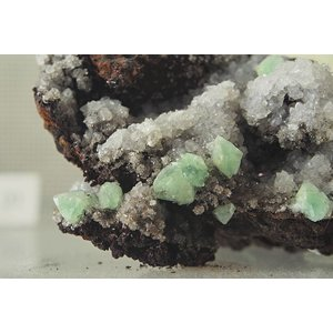 Adamite and Calcite By Photo by and (c)2015 Derek Ramsey (Ram-Man) (Self-photographed)