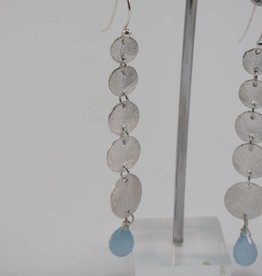 Earring silver with caleadone