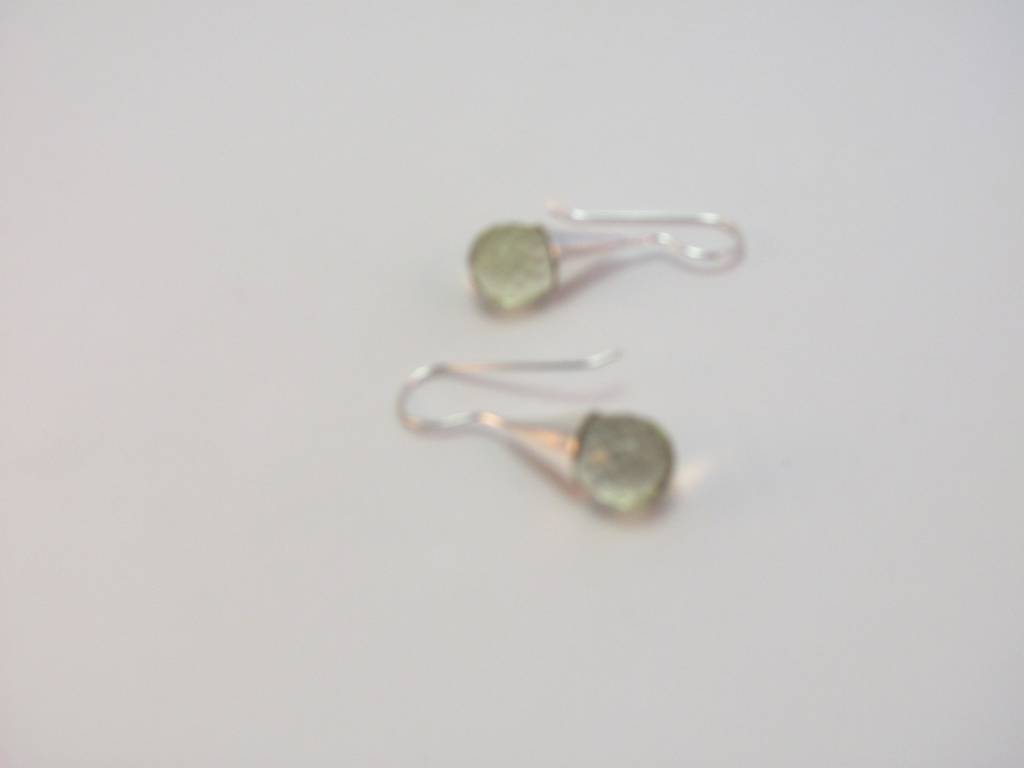 Earring silver with crystal