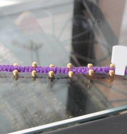 Armband macramé paars