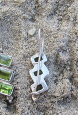Earring silver with peridot