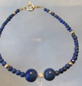 Bracelet silver lapis lazuli