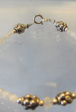 Bracelet silver rainbow moonstone