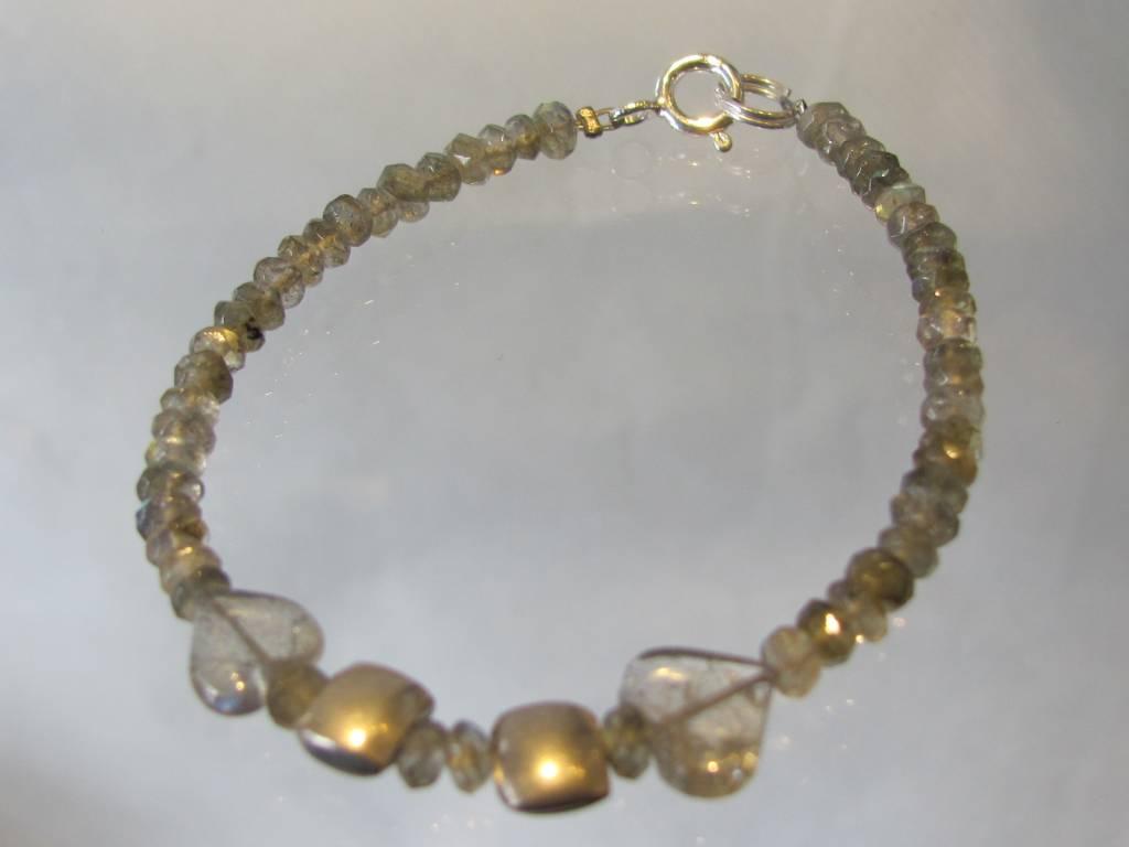 Bracelet silver labradorite