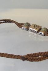 Bracelet silver plaited