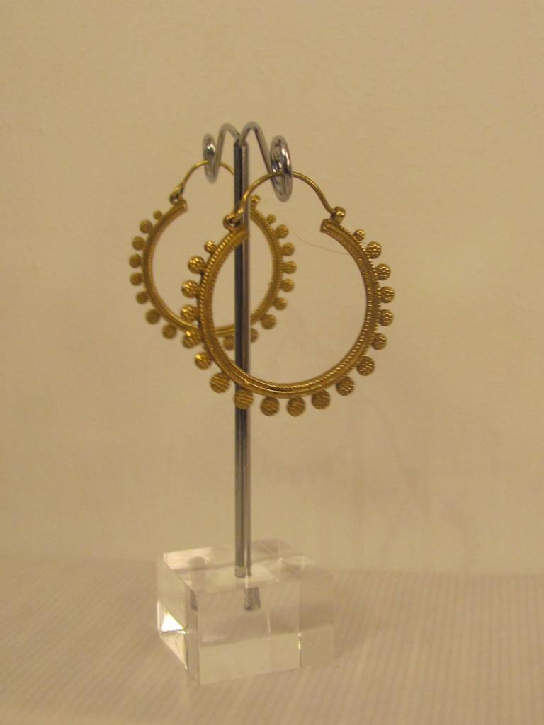 Earring brass hippy gypsy style