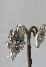Earring silver zircon  retro stud