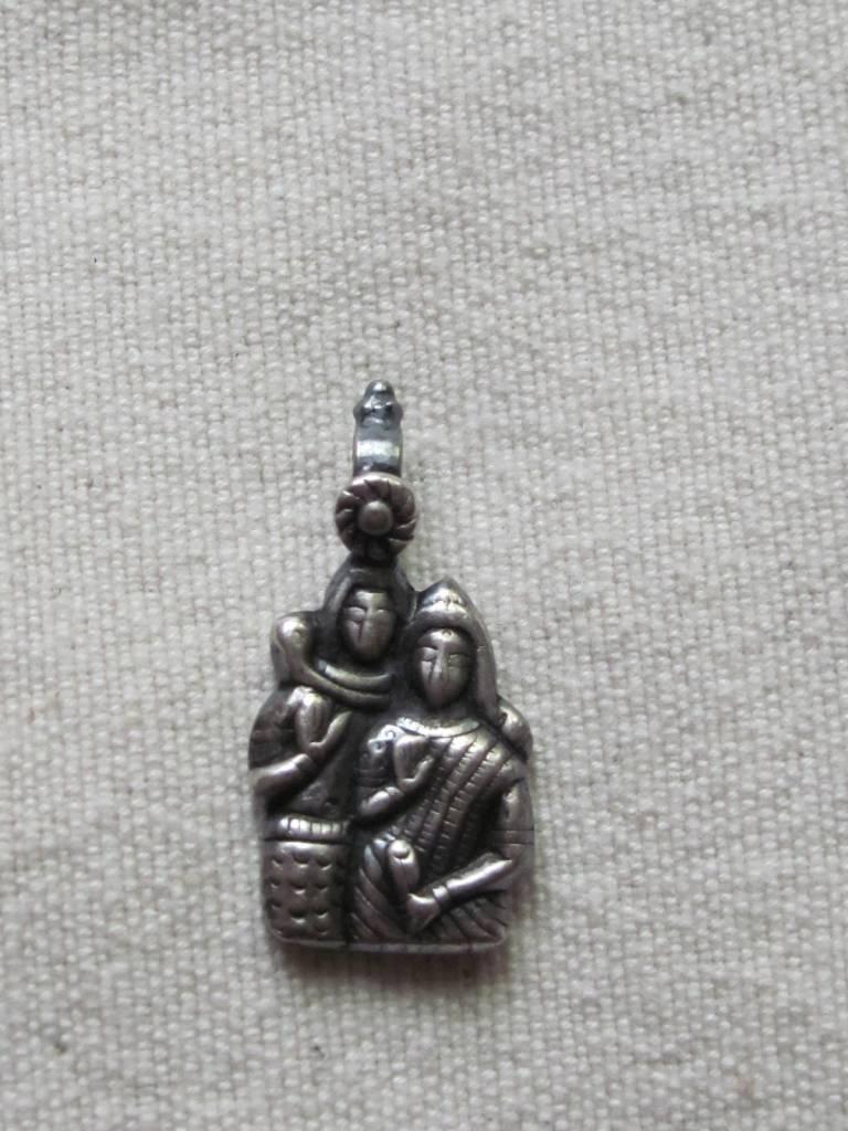 Pendant zilver Shiva Parvathi