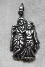 Pendant silver Radha Krishna
